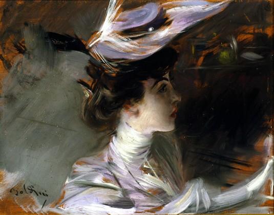 Boldini - Il cappellino nuovo - Lina Cavalieri